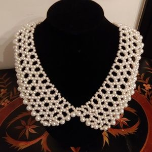 Jewelry - Simulated Pearl Collar Necklace